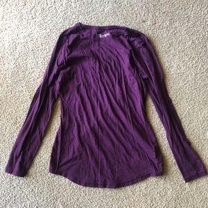 Long-sleeved purple tee